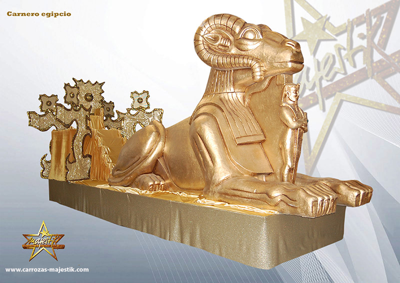 Carroza faraón y carnero egipcio