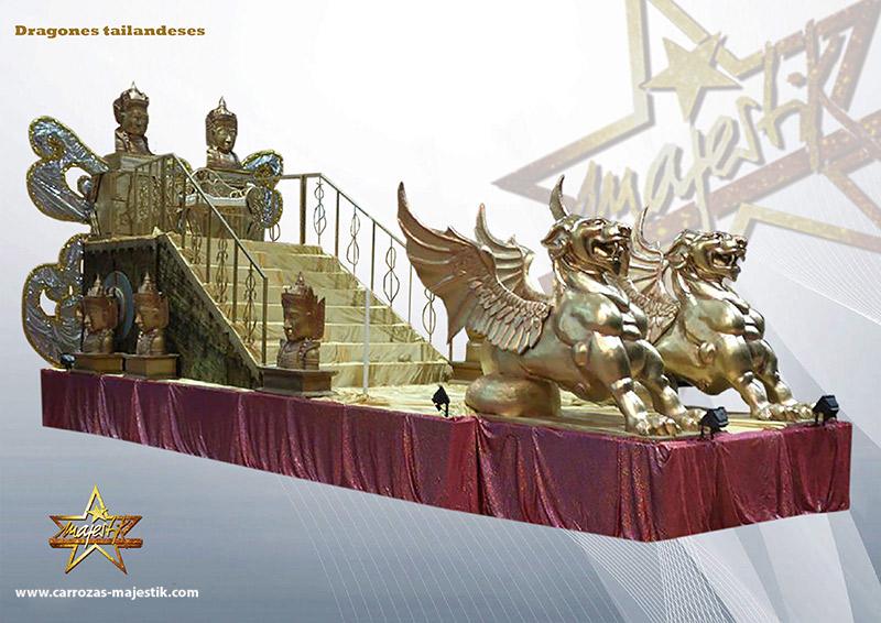 carroza Dragones tailandeses