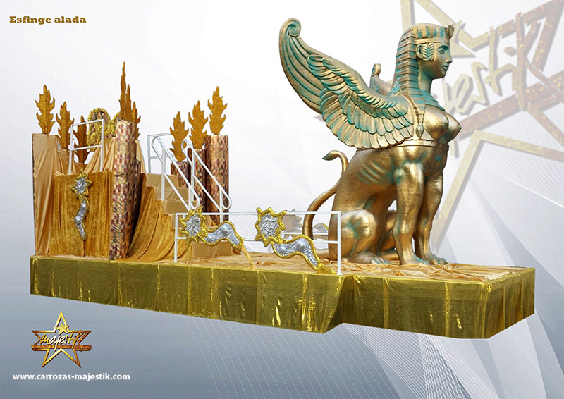 Carroza esfinge egipcia