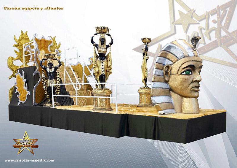 Carroza Faraón egipcio