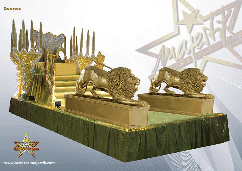 Carroza leones guardianes