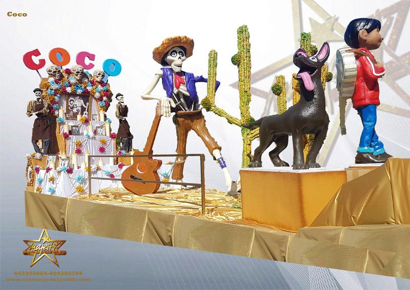 Carroza infantil de la película Coco