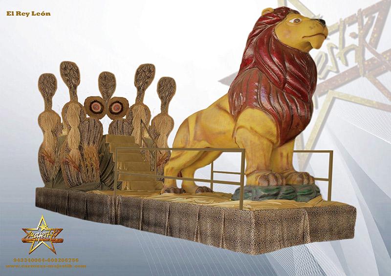 carroza el rey león