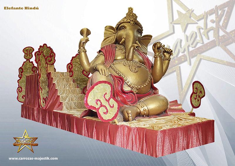 Carroza elefante hindú