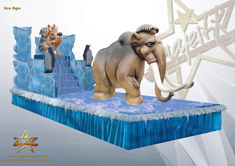 carroza con figuras de ice age