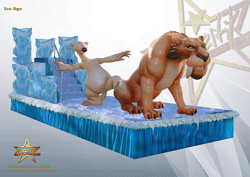 carroza infantil de ice age