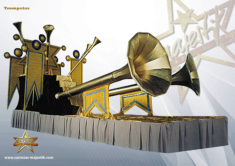 Carrozas trompetas anuncio