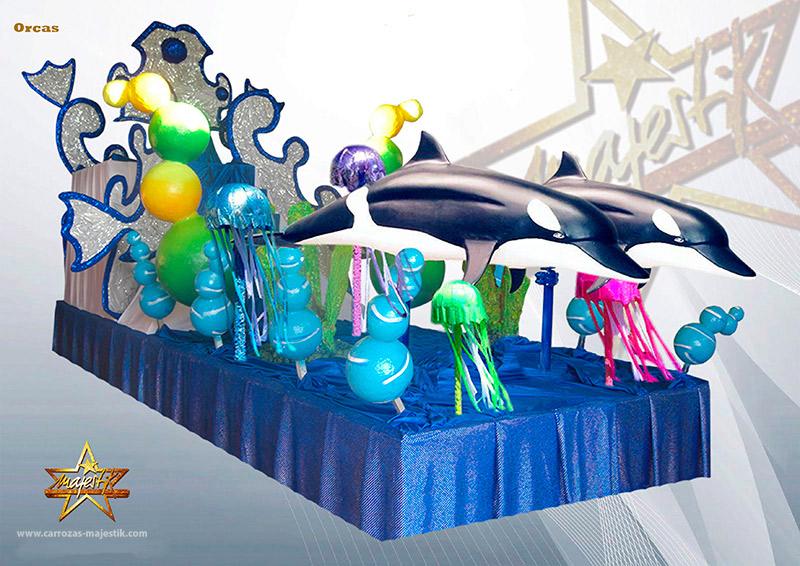 Carroza delfines